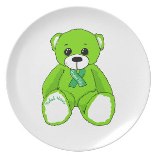 Cerebral Palsy Awareness Teddy Bear Products Plate