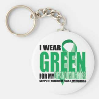 Cerebral Palsy Green for Granddaughter Key Ring
