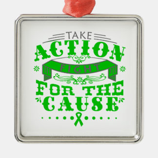 Cerebral Palsy Take Action Fight For The Cause Christmas Ornament