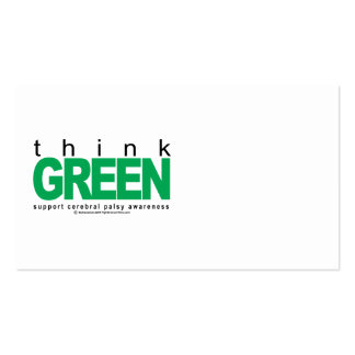 Cerebral Palsy THINK Green Pack Of Standard Business Cards