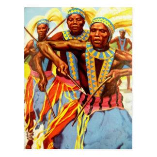 Ceremonial dance postcard