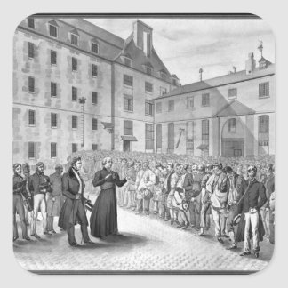 Ceremony before the departure of the convicts square sticker