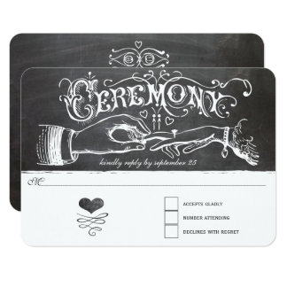 Ceremony Chalkboard Response Card