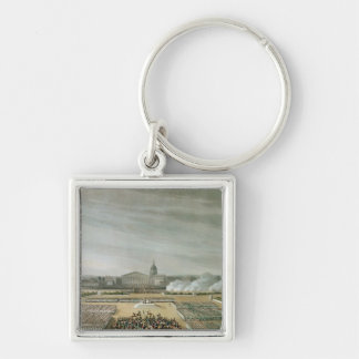 Ceremony of the Te Deum Silver-Colored Square Key Ring