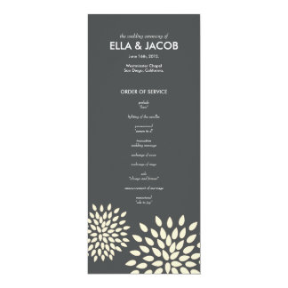 Ceremony Program // Posh Petals // Vanilla 10 Cm X 24 Cm Invitation Card