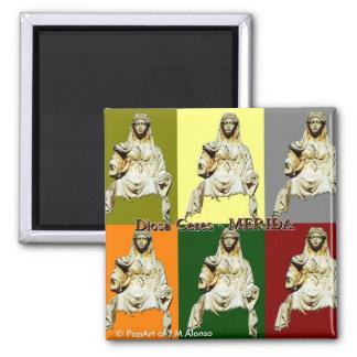 Ceres goddess square magnet