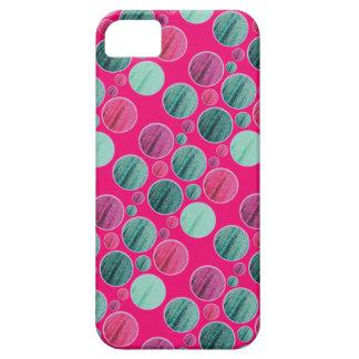 Cerise bling circle pattern phone case