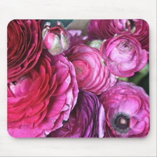 Cerise Pink Flower Mouse Pad