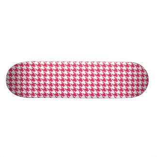 Cerise Pink Houndstooth Skateboards