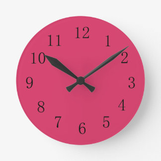 Cerise Red Kitchen Wall Clock