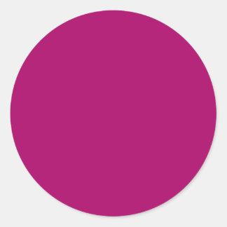 Cerise Round Sticker