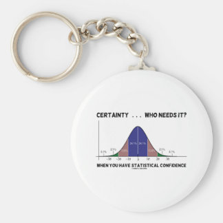 Certainty ... Who Needs It? When You Have Stats Basic Round Button Key Ring