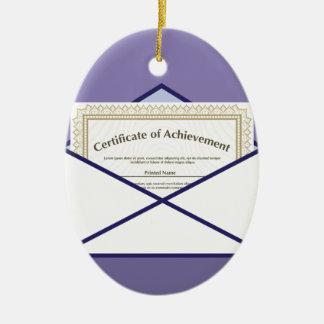 Certificate in Envelope Vector Ceramic Ornament