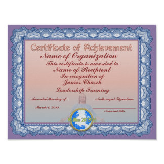 Certificate of Achievement (Christian) Poster