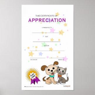 Certificate of Appreciation #01 Poster