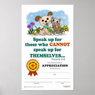 Certificate of Appreciation #02 Poster