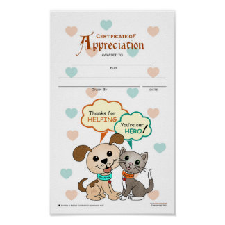 Certificate of Appreciation #04 Poster