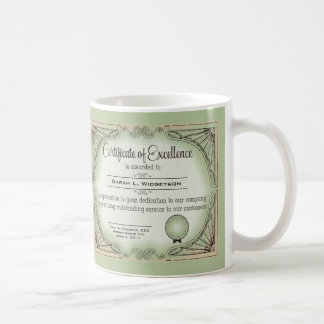 certificate of excellence employee recognition coffee mug