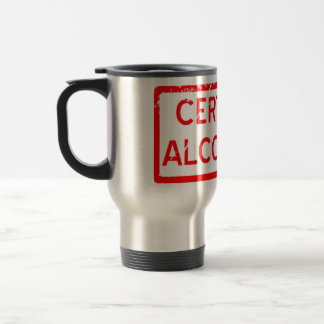 CERTIFIED ALCOHOLIC STAINLESS STEEL TRAVEL MUG