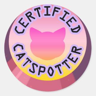 Certified Catspotter Classic Round Sticker