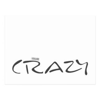 Certified Crazy Official Stamp Capital Letters Postcard