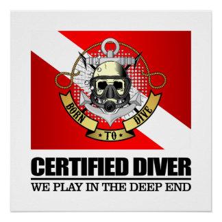 Certified Diver (BTD) Poster