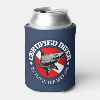 Certified Diver (Shark) Can Cooler