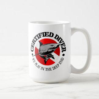 Certified Diver (Shark) Coffee Mug