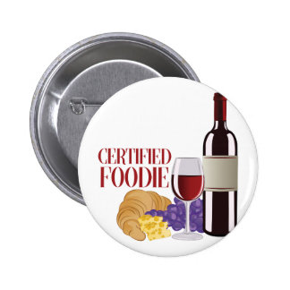 Certified Foodie 6 Cm Round Badge