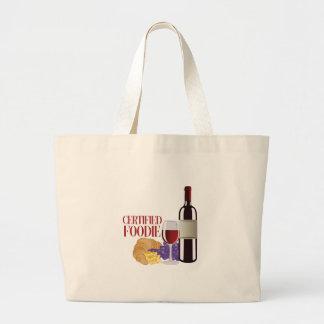Certified Foodie Large Tote Bag