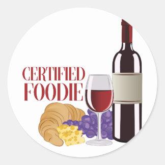 Certified Foodie Round Sticker