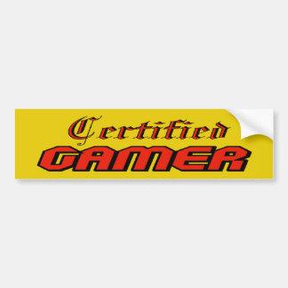 Certified Gamer Bumper Sticker
