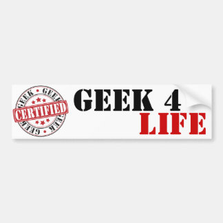 Certified Geek Bumper Sticker