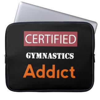 Certified Gymnastics Addict Laptop Computer Sleeve