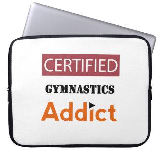 Certified Gymnastics Addict Laptop Sleeves