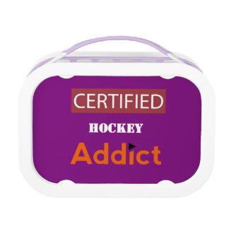 Certified Hockey Addict Lunch Box
