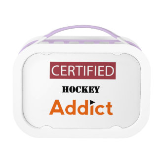 Certified Hockey Addict Lunchboxes