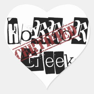 Certified Horror Geek Heart Sticker