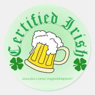 Certified Irish Beer 2gradient Stickers