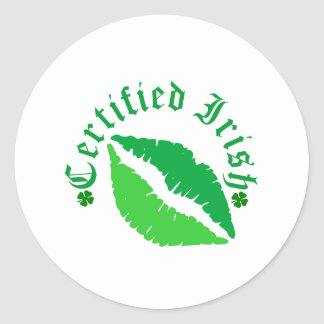 Certified Irish Kiss Sticker