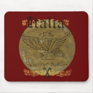 Certified Italian Red Italy Mousepad