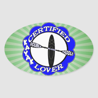 CERTIFIED KAYAK LOVER OVAL STICKER