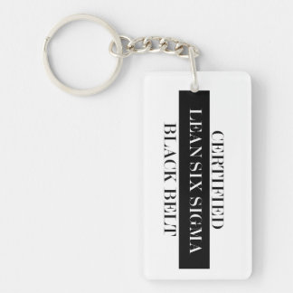 Certified Lean Six Sigma Black Belt Key Chain