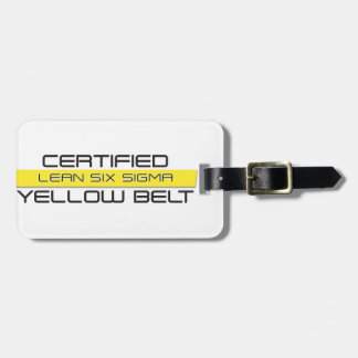 Certified Lean Six Sigma Yellow Belt Luggage Tag