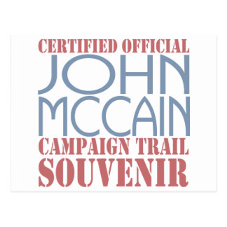 Certified McCain Postcard