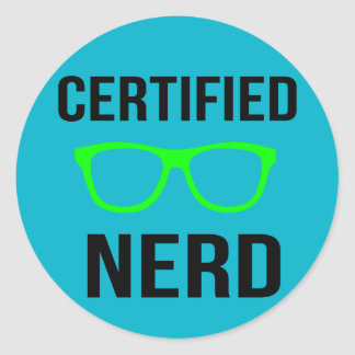 Certified Nerd Stickers