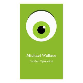 Certified Optometrist - Cute Big Green One Eye Pack Of Standard Business Cards