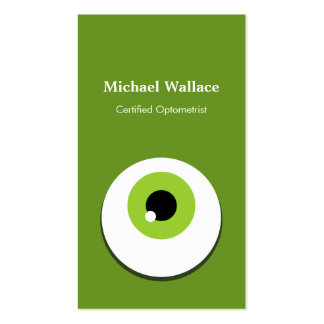 Certified Optometrist - Funny Large Green One Eye Pack Of Standard Business Cards