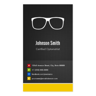 Certified Optometrist Optical Creative Innovative Pack Of Standard Business Cards