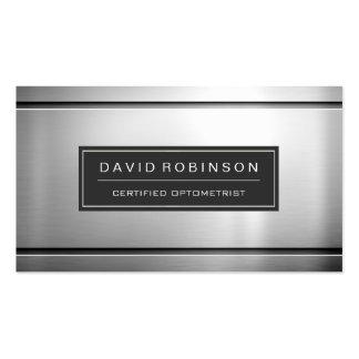 Certified Optometrist - Premium Silver Metal Pack Of Standard Business Cards